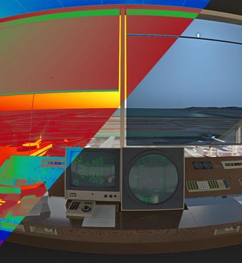 Air traffic control tower simulation by Greg Ward and Charles Ehrlich. Credit: Greg Ward and Charles Ehrlich