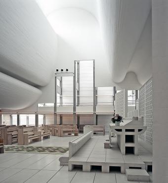 Bagsværd Church by Jørn Utzon, Denmark