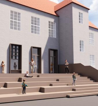 Dragør Skole vil med en ny trappe skabe et fælles opholds- og undervisningssted i det fri