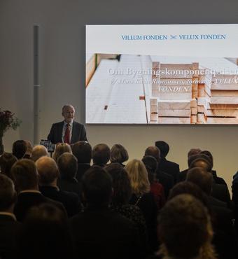 Hans Kann Rasmussen introducerer Bygningskomponentprisen 2019