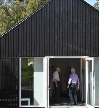 Vejret var som bestilt til indvielsen af Quercus-huset på Skovskolen. Huset er tegnet af Rørbæk & Møller Arkitekter.