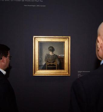 Indvielse af Hammerhøi-udstilling i Paris Foto: Sothebys