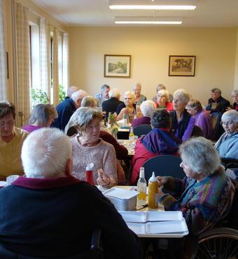 Det nye mødested for de ældre i Tinglev-Uge fungerer godt