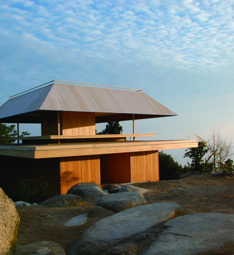 Miyajima Misen Observatory. ©Sambuichi Architects. Caption: Special permission was obtained to take the architectural photographs, and they differ slightly from the present building
