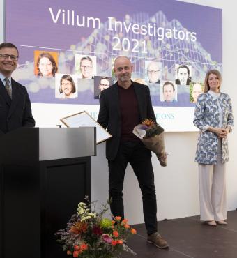 Ole Bang modtager sit Villum Investigator diplom