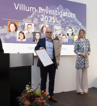 Petar Popovski modtager sit Villum Investigator diplom