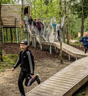 Et afsluttet projekt med skolegård i Skørping er inspiration til andre skolers arbejde. Foto udlånt af Vegalandskab