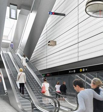 Outline of Havneholmen station by Superflex
