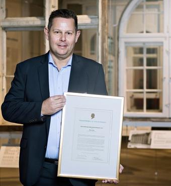 Peer Leth er modtager af Bygningskomponentprisen 2017