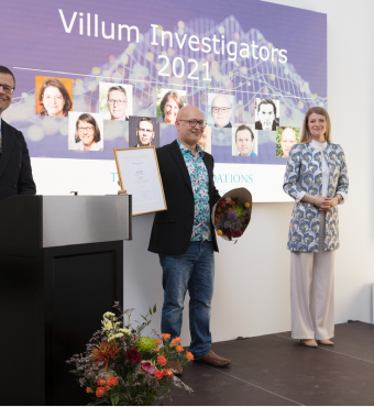 Vivek Shende modtager sit Villum Investigator diplom
